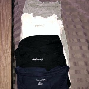 4 long sleeve GAP maternity tees Sz Small